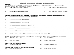 Geometric Sequences Worksheet Answers Worksheets for all ...