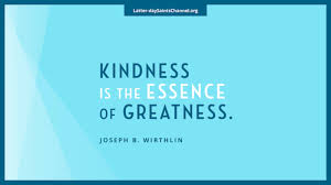 Cultivate an attitude of happiness. Inspirational Quote Kindness Latter Day Saints Channel