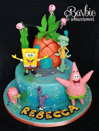 Birthday Cakes Spongebob And Co By Barbieschiaccianoci