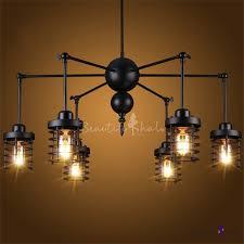 swing armed 6 lighted black finished large led chandelier takeluckhome com