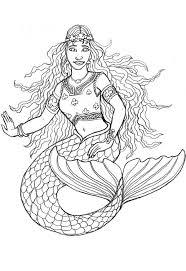 Free Adult Printable Mermaid Coloring Pages 2282 Realistic Mermaid