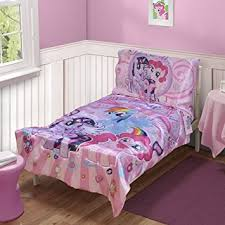 Amazon My Little Pony Toddler Bedding 4pc Set Pink Little