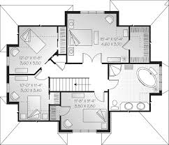 Wilmington Crest English Home Plan D    House Plans and MoreCountry House Plan Second Floor   D    House Plans and More