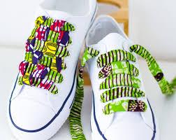 diy ankara african wax shoe laces