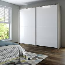 Mirrored Bedroom Doors Buy John Lewis Girona 200cm Wardrobe With Glass Or Mirrored