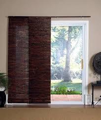wood sliding glass door blinds