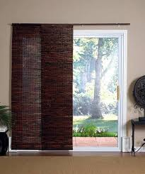 wood sliding glass door blinds