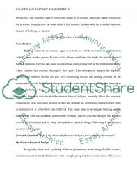 bullying and academic achievement research paper bullying and academic achievement essay example