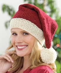 Santa Hat Pattern Amazing Knit Santa Hat Red Heart