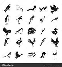 鳥アイコンを設定シンプルなスタイル ストックベクター Ylivdesign