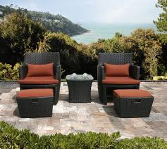 outdoor chair with ottoman. Patio Furniture Set With Ottoman Maribo Intelligentsolutions Co Outdoor Chair