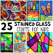these 25 stained glass crafts for kids are a beautiful way to brighten your home no