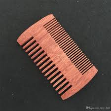 wooden beard comb dual action fine co teeth perfect for use with balms and oils amodong comb for beards mustaches drop the best hair brush