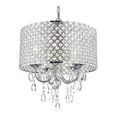 crystal chrome chandelier pendant light with drum shade mini modern lights white chandeliers canarm sarah in uk small brass ceiling bathroom wrought iron