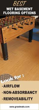 Best Basement Flooring Images On Pinterest - Finish basement floor