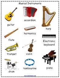 Musical Instruments Jumbled Words Worksheet Free Printable