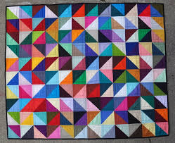 Triangle Quilt by Lynn Harris at The Little Red Hen So many colors ... & Quilting Mod: Thursday Trend, Tutorial, and Tools - Half Square Triangles Adamdwight.com