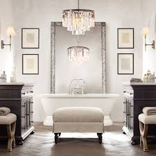 Modern Bathroom  Wonderful Bathroom Chandeliers Wonderful - Modern bathroom chandeliers