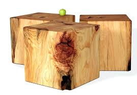 wooden cube furniture natural tree stump side table brings nature fragment into your stumps design in wooden cube