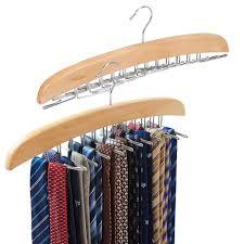 2 pack belt hangers ezoware adjule 24 tie belt scarf racks holder