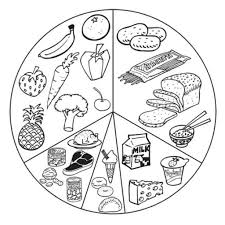 List Healthy Food Coloring Page Kids