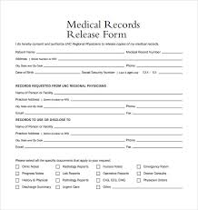 Medical Records Template Medical Release Form Template Medical Records Release Form Sample