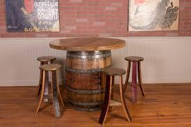 used wine barrel furniture. Wine Barrel Table Set With Cabinet Base Used Furniture