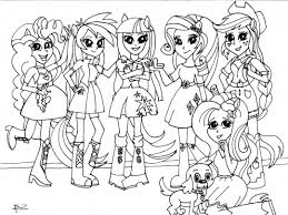 Coloring Page My Little Pony Equestria Girls Kleurplaat My Little