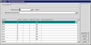 Attendant Sheet Task Sheet Room Details