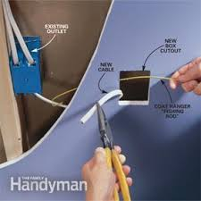 how to wire an outlet and add an electrical outlet the family handyman photo 4 fish the cable to the new location