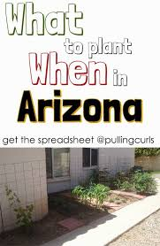 an arizona planting guide things are diffe in the dessert print out what to plant when