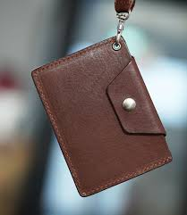 sg er lanyard real calf leather lanyard card holder for office work