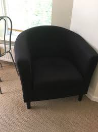 black tub chair argos good condition