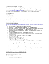 Cosmetology Resume Samples Awesome Cosmetologist Resume personel profile 42