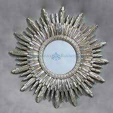 Silver Sun Mirror  Shopwiz within Large Sun Shaped Mirrors (Image 18 of 25)
