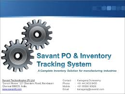 Purchase Order Tracking System Purchase Order Inventory Tracking System