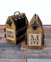rustic beer tote wood six pack carrier