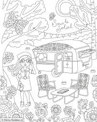 Pin By Liz Foster On Coloring Therapy Camping Coloring Pages