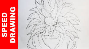 Comment Dessiner Goku Ssj3 Dbz Youtube