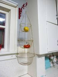 Vintage 3 Tier Wire Hanging Kitchen Basket