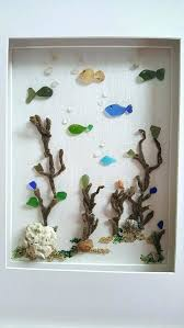 sea glass decoration imposing wall art unique ideas on crafts beach decorating proj