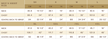Australian Clothing Size Conversion Chart Mens Mens Apparel Size Chart