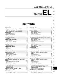 2002 nissan xterra electrical system section el pdf manual 2002 nissan xterra electrical system section el 278 pages