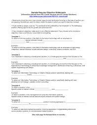 Samples Of Objective For Resume Haadyaooverbayresort Com
