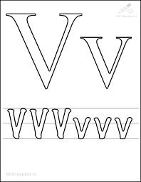 1001 Kleurplaten Tekens Letters Kleurplaat Letter V