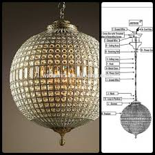 large sphere crystal chandelier