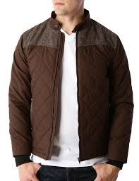 LE3NO Mens Lightweight Quilted Full Zip Bomber Jacket with Elbow ... & LE3NO Mens Lightweight Quilted Full Zip Bomber Jacket with Elbow Patches  (CLEARANCE) Adamdwight.com