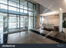 contemporary office reception. Entrance And Reception In A New Contemporary Office Building