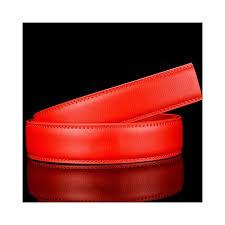 plyesxale no buckle genuine leather belt men high quality black blue red brown 35mm wide cowhide mens belts drop b37 color red belt length 110cm