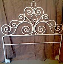 wrought iron headboard full. Modren Iron VTG TWIN SIZE SOLID WROUGHT IRON FRENCH COUNTRY DESIGN HEADBOARD  EXC COND Wrought  Iron Headboards Intended Headboard Full